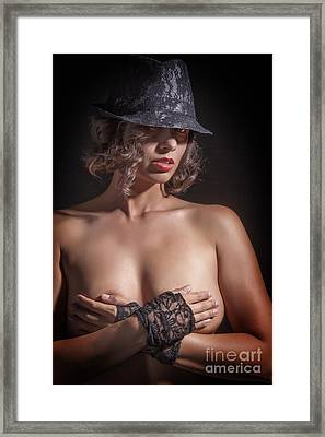 Timid Nude Framed Print by Kendree Miller