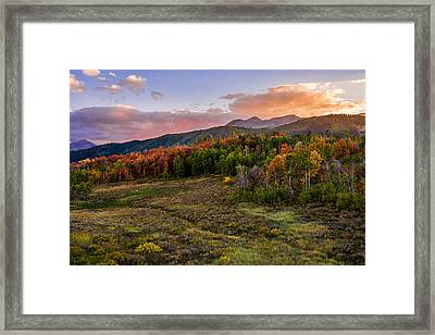 Timp Fall Glow Framed Print by Chad Dutson