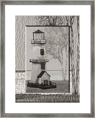 Tin Lighthouse Art Framed Print by LeeAnn McLaneGoetz McLaneGoetzStudioLLCcom