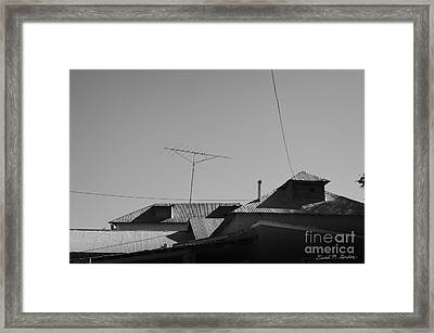 Tin Rooftops Chimayo New Mexico Framed Print by David Gordon