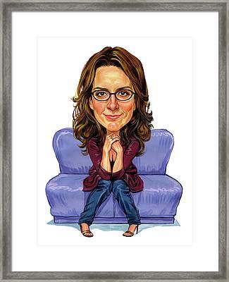 Tina Fey Framed Print by Art