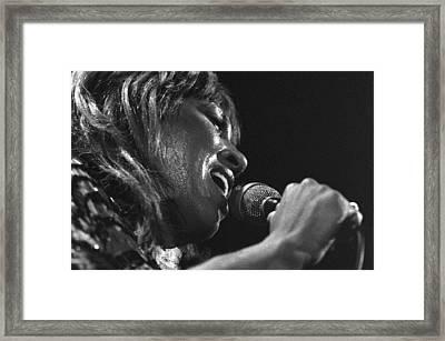 Tina Turner 1 Framed Print by Dragan Kudjerski