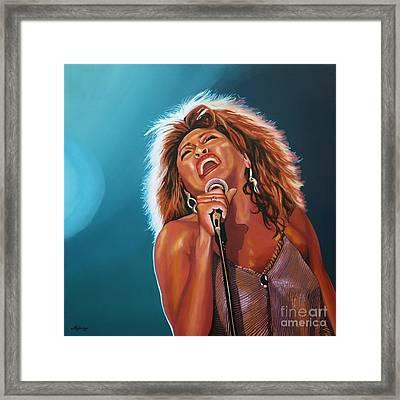 Tina Turner 3 Framed Print by Paul Meijering