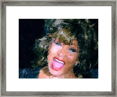 Tina Turner Live Framed Print by Yury Malkov