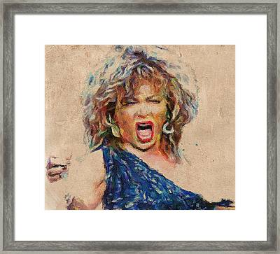 Tina Turner Portrait You Are The Best 1 Framed Print by Yury Malkov