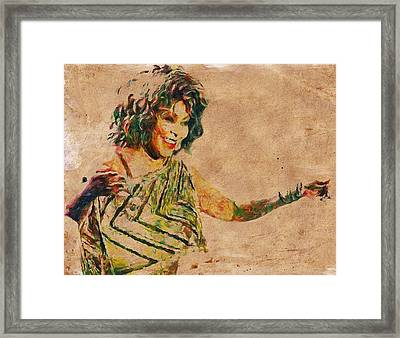 Tina Turner Portrait You Are The Best 2 Framed Print by Yury Malkov