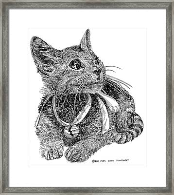 Cutie Pie Tinker Bell  Framed Print by Jack Pumphrey