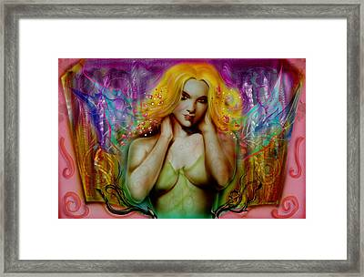 Tinker Bell Framed Print by Luis  Navarro