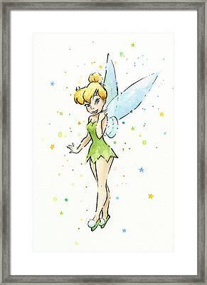 Tinker Bell Framed Print by Olga Shvartsur