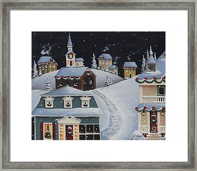 Tinsel Town Christmas Framed Print by Catherine Holman