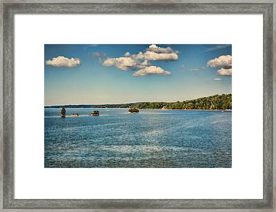 Tiny Islands Framed Print by Jai Johnson