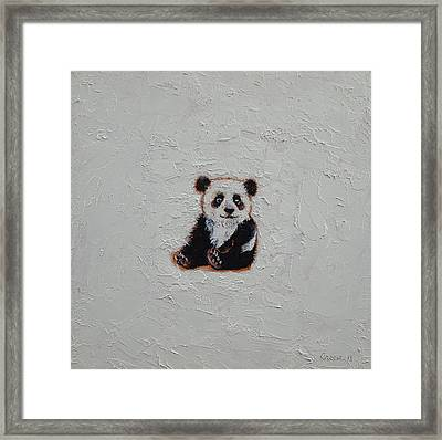 Tiny Panda Framed Print by Michael Creese