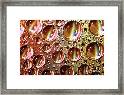 Tiny Water Beads And Spectrum Colors Framed Print by Heiko Koehrer-Wagner