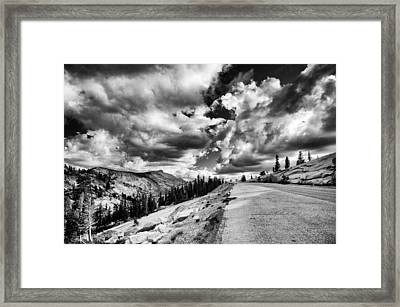 Tioga Pass Framed Print by Cat Connor