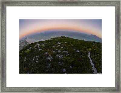 Tip Of The World Framed Print by Aaron S Bedell