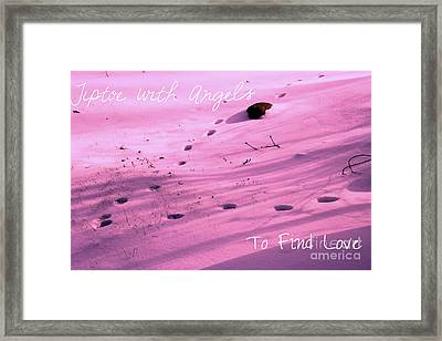 Tiptoe With Angels To Find Love Framed Print by Mike Grubb