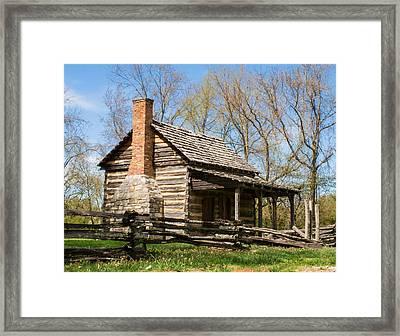 Tipton Hayes Log Cabin 10 Framed Print by Douglas Barnett