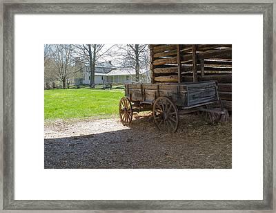 Tipton Hayes Wagon 1 Framed Print by Douglas Barnett