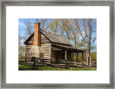 Tipton Hays Log Cabin 10 Framed Print by Douglas Barnett