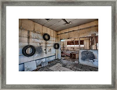 Tired Building Framed Print by Peter Tellone