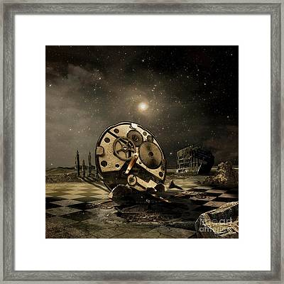 Tired Old Time Framed Print by Franziskus Pfleghart