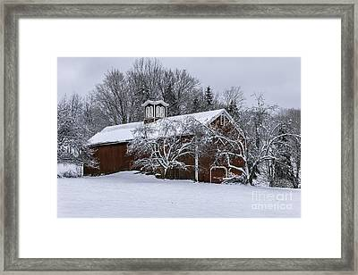 Tis The Season - A New England Scenic Framed Print by Thomas Schoeller