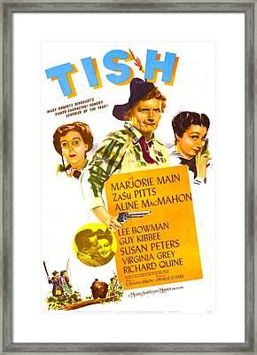 Tish, Us Poster, From Left Zasu Pitts Framed Print by Everett