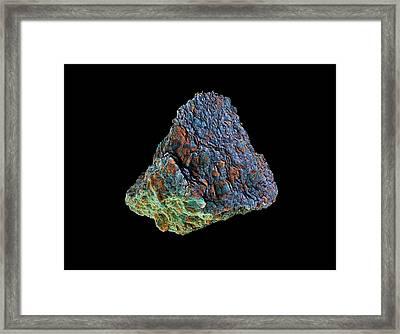 Tissint Martian Meteorite Framed Print by Dan Sykes/natural History Museum, London
