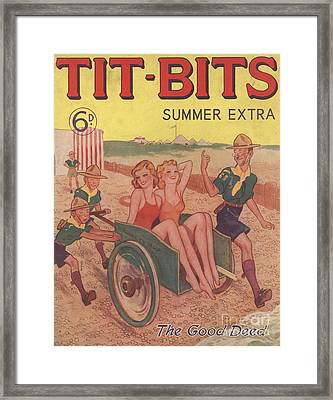 Tit-bits 1930s Uk Boy Scouts Holidays Framed Print by The Advertising Archives