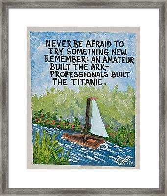 Titanic Quote Framed Print by Joe Kopler