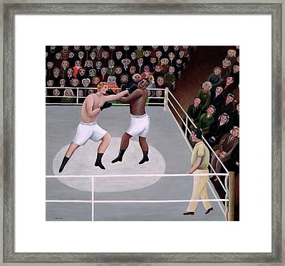 Title Fight Framed Print by Jerzy Marek