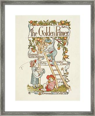 Title Page For The Golden Primer Framed Print by British Library