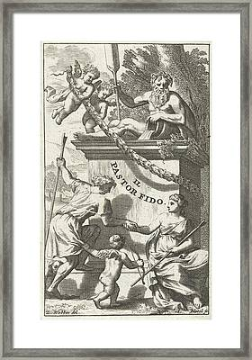 Title Page For U.k Framed Print by Abraham Bloteling And Zacharias Webber Ii And Pierre Marteau