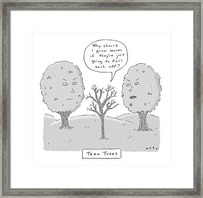 Title: Teen Trees Framed Print by Kim Warp