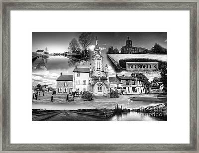 Tiverton Landmarks  Framed Print by Rob Hawkins
