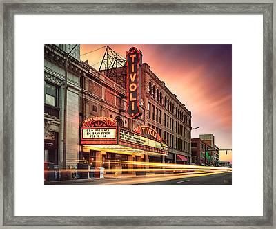 Tivoli Theatre Valentines Day Sunset Framed Print by Steven Llorca