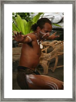 Tjapukai Dance  Framed Print by Cecelia Helwig