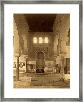Tlemcen, Central Nave Of The Madrasa, Djama Abd Al-kassem Framed Print by Litz Collection