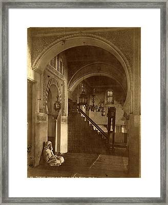 Tlemcen, Interior Of The Mosque Of Sidi Bou Medina Framed Print by Litz Collection