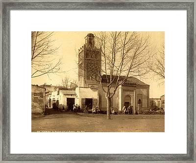 Tlemcen Mosque Abdul-hassem, Algiers, Neurdein Brothers Framed Print by Litz Collection