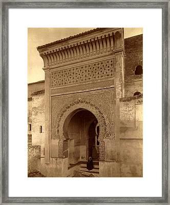 Tlemcen, Portal Of The Mosque Of Sidi Bou Medina, Algiers Framed Print by Litz Collection