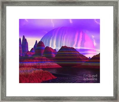 To Asgard Framed Print by Pet Serrano
