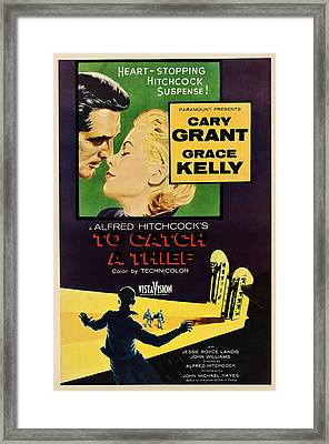 To Catch A Thief, Us Poster Art Framed Print by Everett