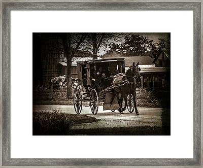 To Church On Sunday Framed Print by Michael L Kimble