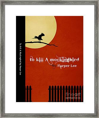 To Kill A Mockingbird Book Cover Movie Poster Art 1 Framed Print by Nishanth Gopinathan