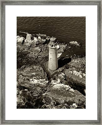 To Light The Graves Black And White Framed Print by Joshua House