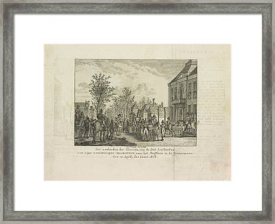 To Offer The Keys Of The City To Louis Napoleon Framed Print by Artokoloro