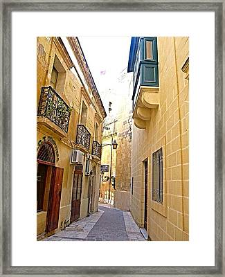 To Saint Gorg Square Framed Print by Georgina Mizzi