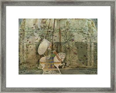 To See A Fine Lady Upon A White Horse Framed Print by Sarah Vernon