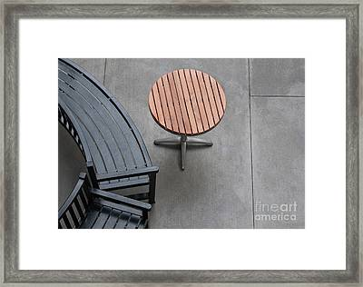 To Sit And To Set Framed Print by Dan Holm